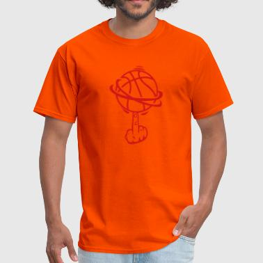 basketball finger fuck finger rotates - Men's T-Shirt