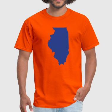 Illinois Prairie State State of Illinois solid - Men's T-Shirt