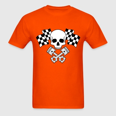 Skull Pistons Flags - Men's T-Shirt