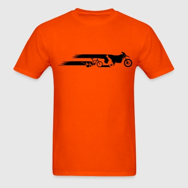 Motorcycle Enduro tail evolution - Men's T-Shirt