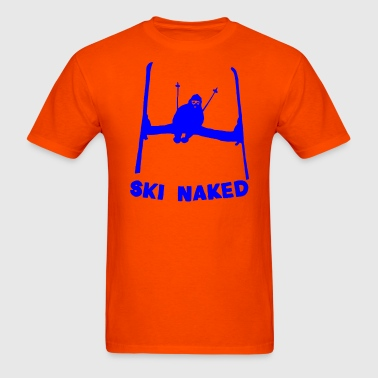 Ski Naked Blue - Men's T-Shirt