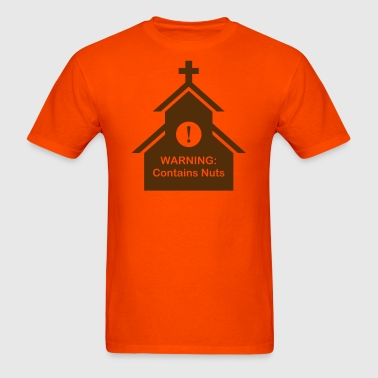 Church warning: Contains nuts - Men's T-Shirt