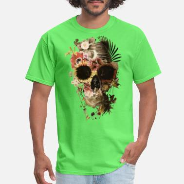 Floral skull flower - Men's T-Shirt