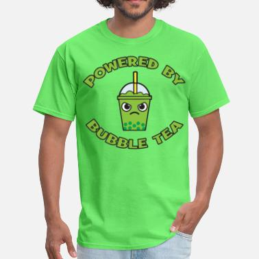 Tea Jokes Powered By Bubble Tea (Green Tea) - Men's T-Shirt