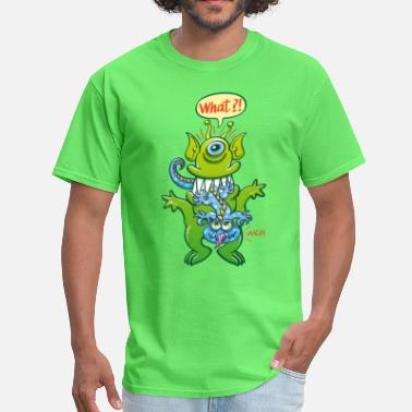 Big Bulge Big monster eat little monster - Men's T-Shirt
