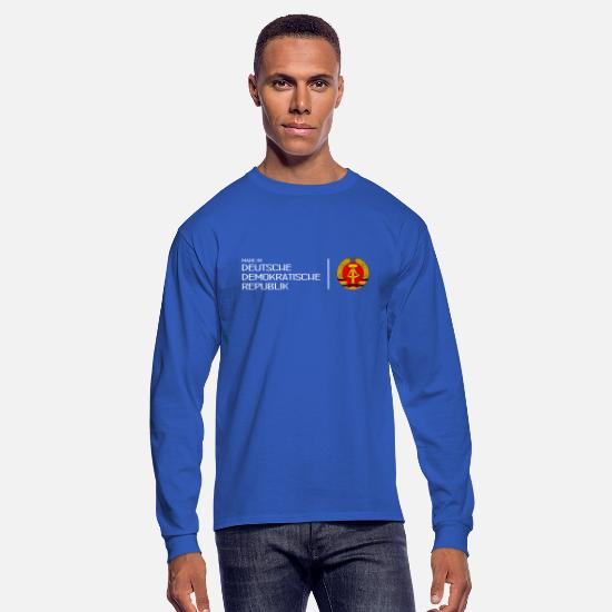 Alexanderplatz Long-Sleeve Shirts - Made in GDR - DDR - Deutsche Demokr. Rep. - Berlin - Men's Longsleeve Shirt royal blue
