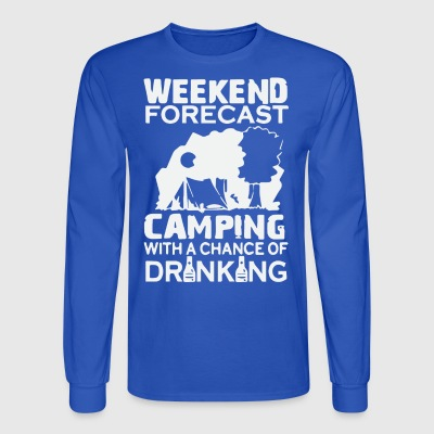 WEEKEND FORECAST CAMPING - Men's Long Sleeve T-Shirt