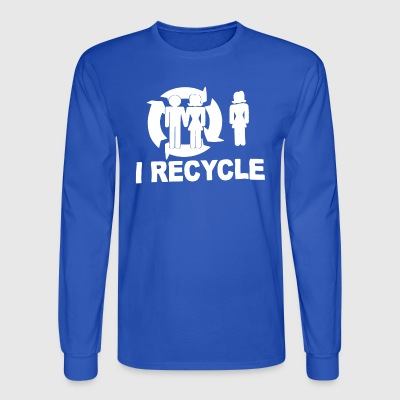 I Recycle - Men's Long Sleeve T-Shirt
