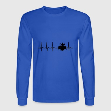 Heartbeat Drums Drummer Sticks Cool Funny Gift - Men's Long Sleeve T-Shirt