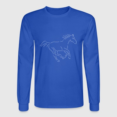 gallopping horse stallion Mare drawing stud ride - Men's Long Sleeve T-Shirt