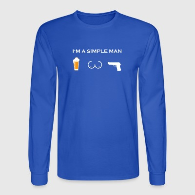 simple man like boobs bier beer titten POLIZIST pn - Men's Long Sleeve T-Shirt