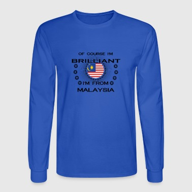 I AM GENIUS BRILLIANT CLEVER MALAYSIA - Men's Long Sleeve T-Shirt