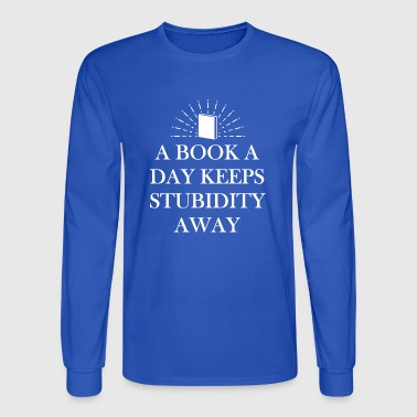 Books are very healthy protects against influences - Men's Long Sleeve T-Shirt
