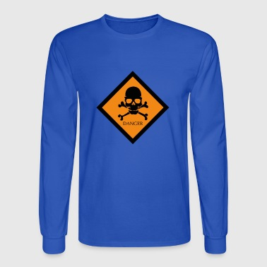 danger skull - Men's Long Sleeve T-Shirt