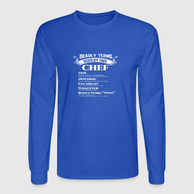 Best Birthday Gift Chef Cooker Love Foodie Grill F - Men's Long Sleeve T-Shirt