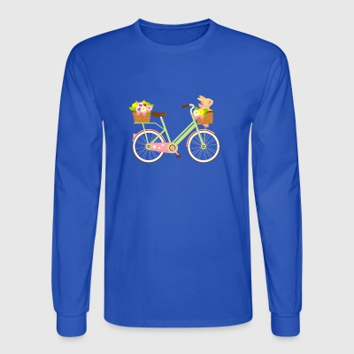 Rabbit On A Bike Bunny Lover Artistic Gift - Men's Long Sleeve T-Shirt