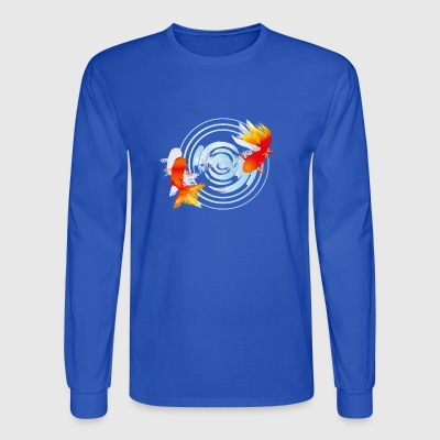 Beautiful Realistic Goldfish Art Watercolor Splash - Men's Long Sleeve T-Shirt