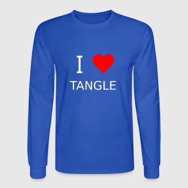 I love Tangle - Men's Long Sleeve T-Shirt