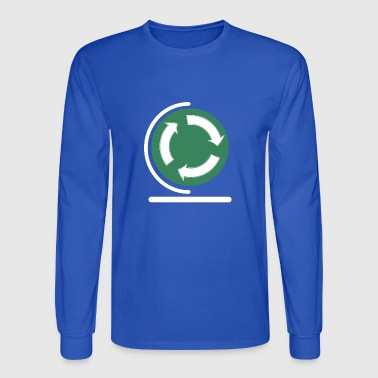 Save your planet! recycle sign - Men's Long Sleeve T-Shirt