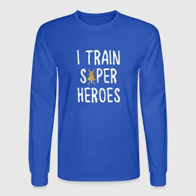 i train superheroes - Men's Long Sleeve T-Shirt