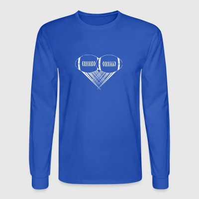 I love american football My Heart Football Gifts - Men's Long Sleeve T-Shirt