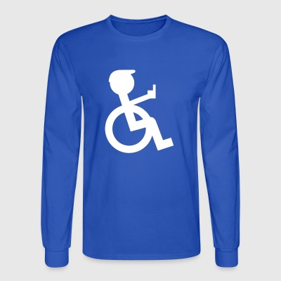 Wheelchair driver with stinky fingers - Men's Long Sleeve T-Shirt