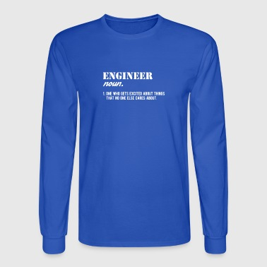 engineer noun job anniversary gift - Men's Long Sleeve T-Shirt