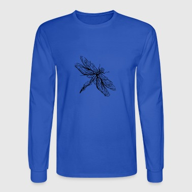 Animal t-shirt. Unusual insect. Dragonfly shirt - Men's Long Sleeve T-Shirt