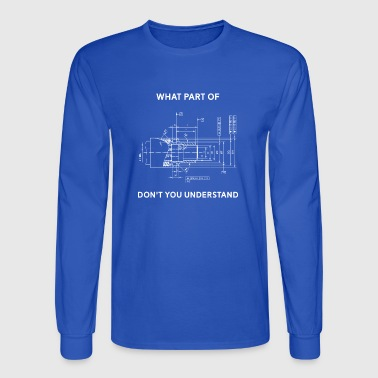 Funny Engineering T-Shirt - Mechanical Engineering - Men's Long Sleeve T-Shirt