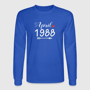 Arrow Heart April 1988 - Men's Long Sleeve T-Shirt