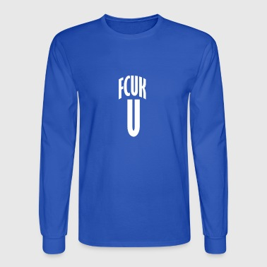FCUK U WHITE - Men's Long Sleeve T-Shirt