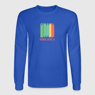 Retro Omaha Nebraska Skyline - Men's Long Sleeve T-Shirt