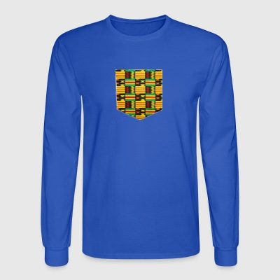 African Print Pocket - Men's Long Sleeve T-Shirt