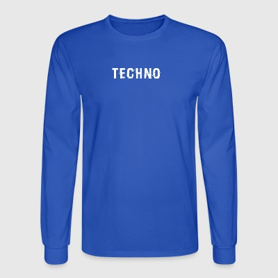 Techno Hacked White - Men's Long Sleeve T-Shirt