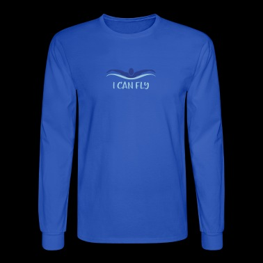 swimming butterfly - Men's Long Sleeve T-Shirt