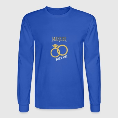 Married since 1991 - Men's Long Sleeve T-Shirt