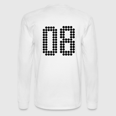 08, Numbers, Football Numbers, Jersey Numbers - Men's Long Sleeve T-Shirt
