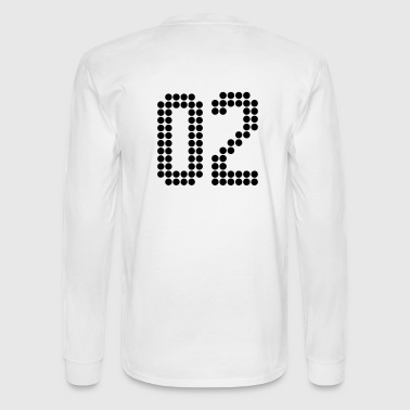 02, Numbers, Football Numbers, Jersey Numbers - Men's Long Sleeve T-Shirt