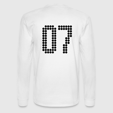 07, Numbers, Football Numbers, Jersey Numbers - Men's Long Sleeve T-Shirt