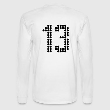 13, Numbers, Football Numbers, Jersey Numbers - Men's Long Sleeve T-Shirt