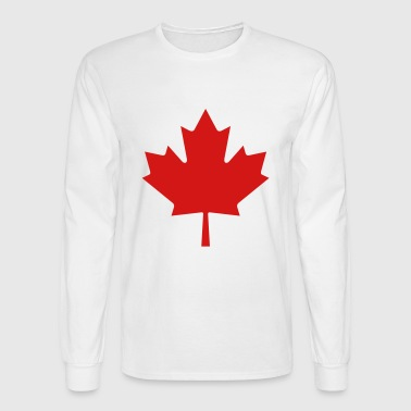 Red Maple Leaf - Men's Long Sleeve T-Shirt