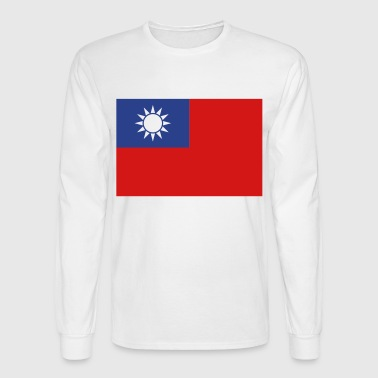 Flag Taiwan (3c)++ - Men's Long Sleeve T-Shirt