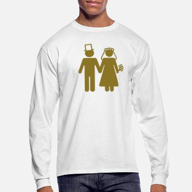 Groom Bride and Groom - Add Your Own Text - Men's Long Sleeve T-Shirt