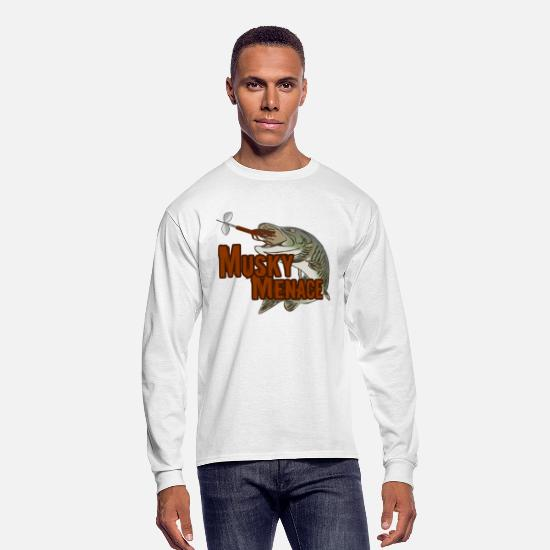 "Muskie Long-Sleeve Shirts - Men's long sleeved shirt ""Musky Menace"" 
