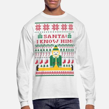 Ugly Elf Christmas Sweater - Men's Long Sleeve T-Shirt