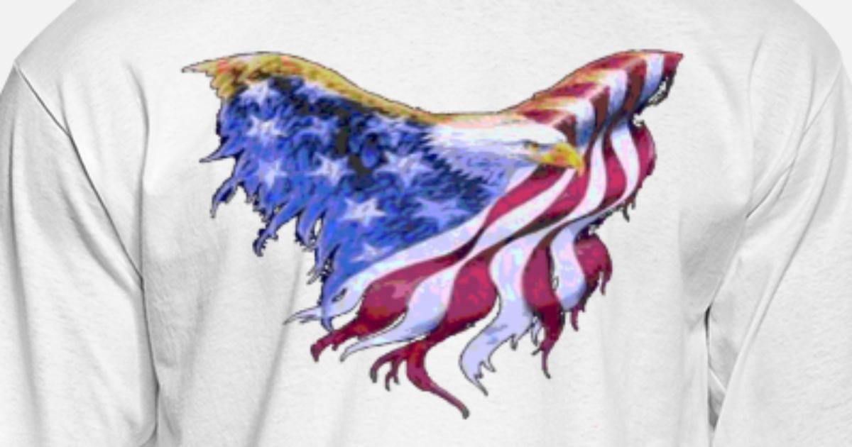 American Flag Eagle Transparent Gif Men S Longsleeve Shirt Spreadshirt