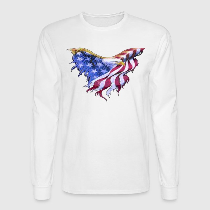 American Flag Eagle  Transparent Gif - Men's Long Sleeve T-Shirt