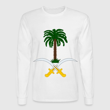 Crest Saudi Arabia (dd)++ - Men's Long Sleeve T-Shirt
