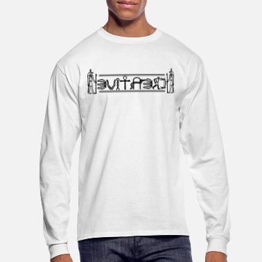 Hieroglyphics Creative - Abstract Hieroglyphics (Black) - Men's Long Sleeve T-Shirt