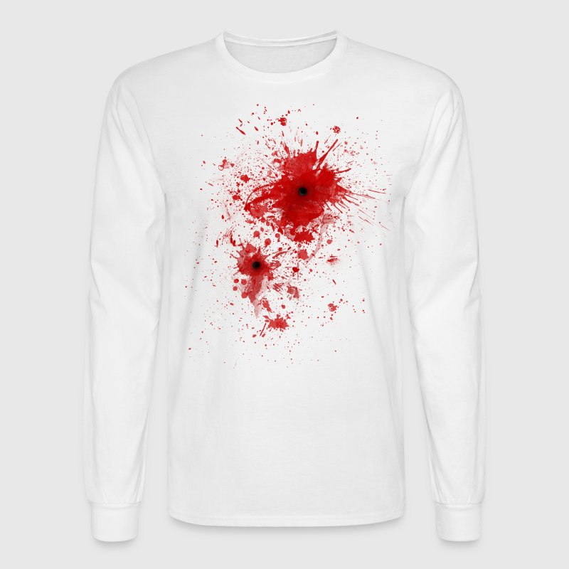 Blood spatter / bullet wound - Costume  - Men's Long Sleeve T-Shirt